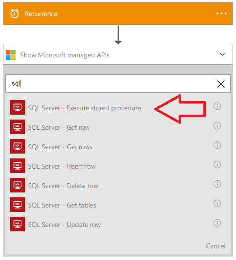 Iterate Over the Results of an Azure SQL Stored Procedure in